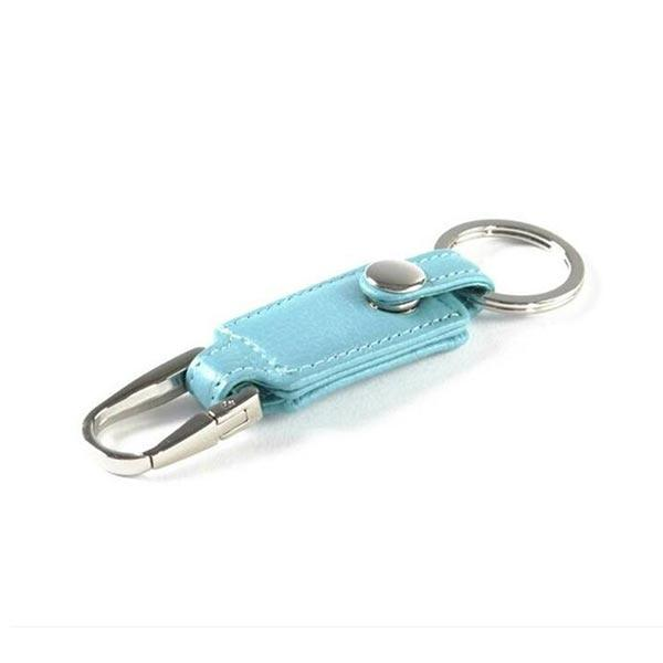 Promotional Metal PU Leather Key Chain with Ring