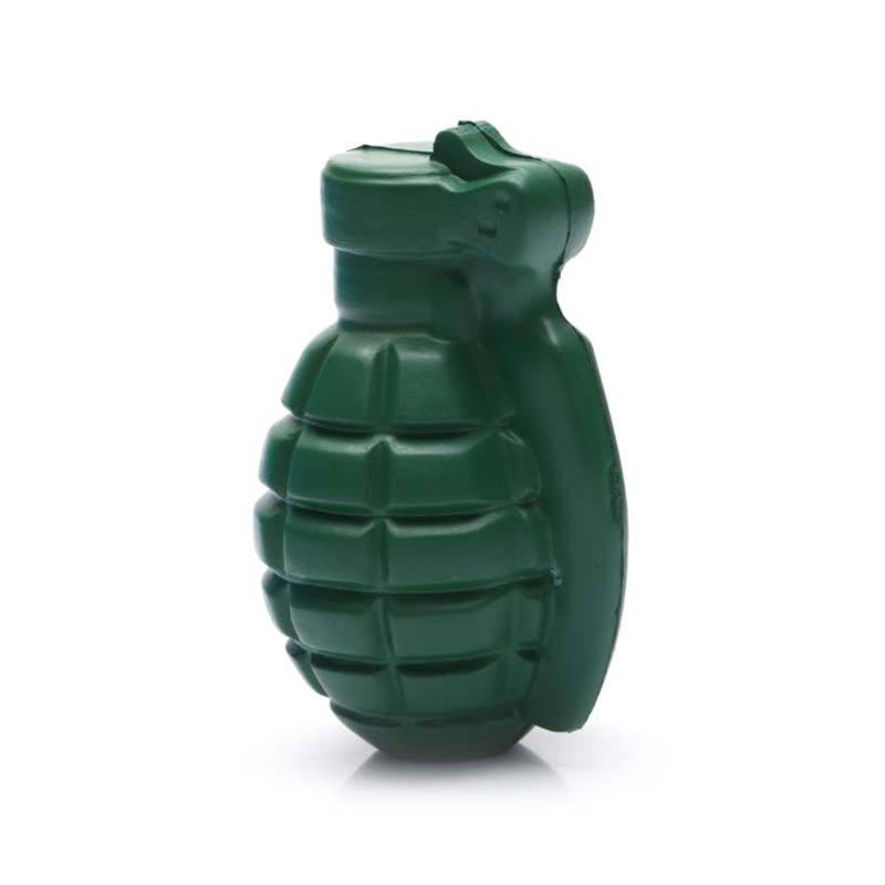 PU Hand Grenade Stress toy with logo printing