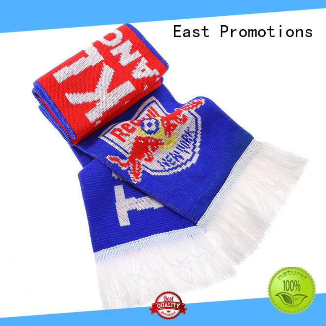 high quality football scarf supply for gift