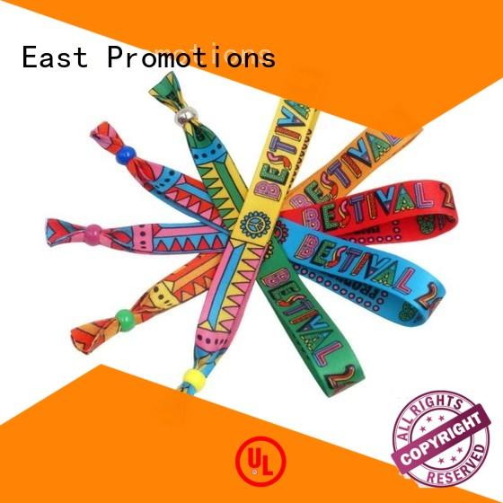 comfortable buy fabric wristbands export for party East Promotions