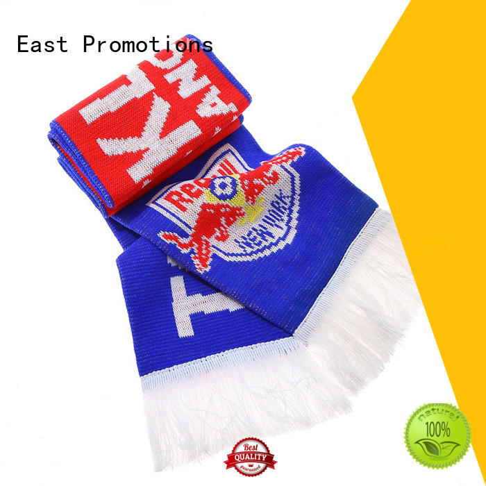 East Promotions fashion design custom sports scarves knitted for gift