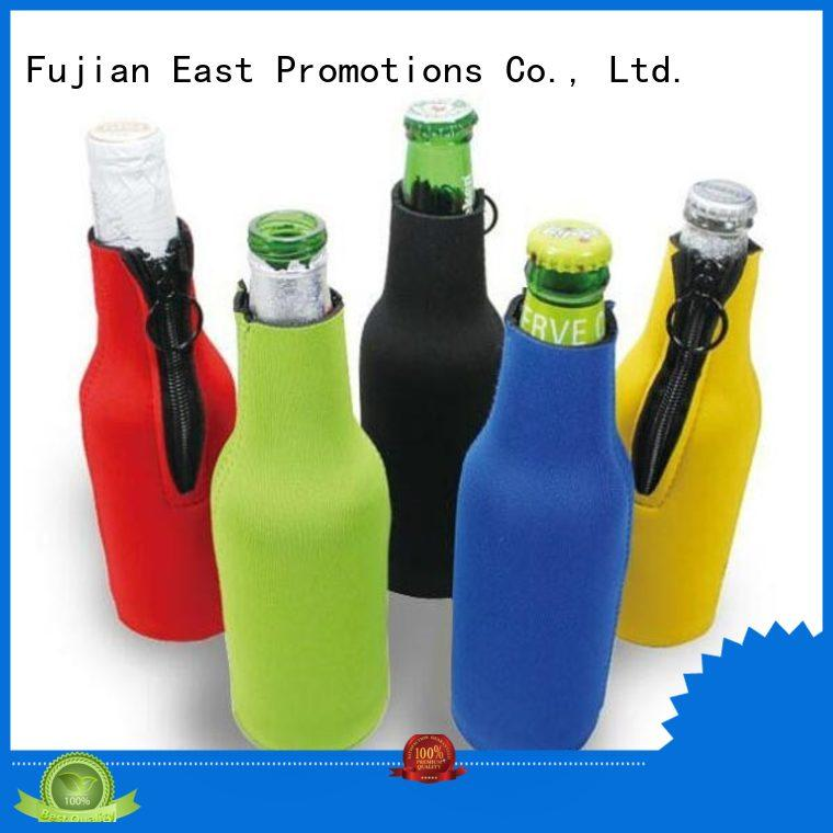 zipper beer bottle cooler sleeve insulated for cup East Promotions