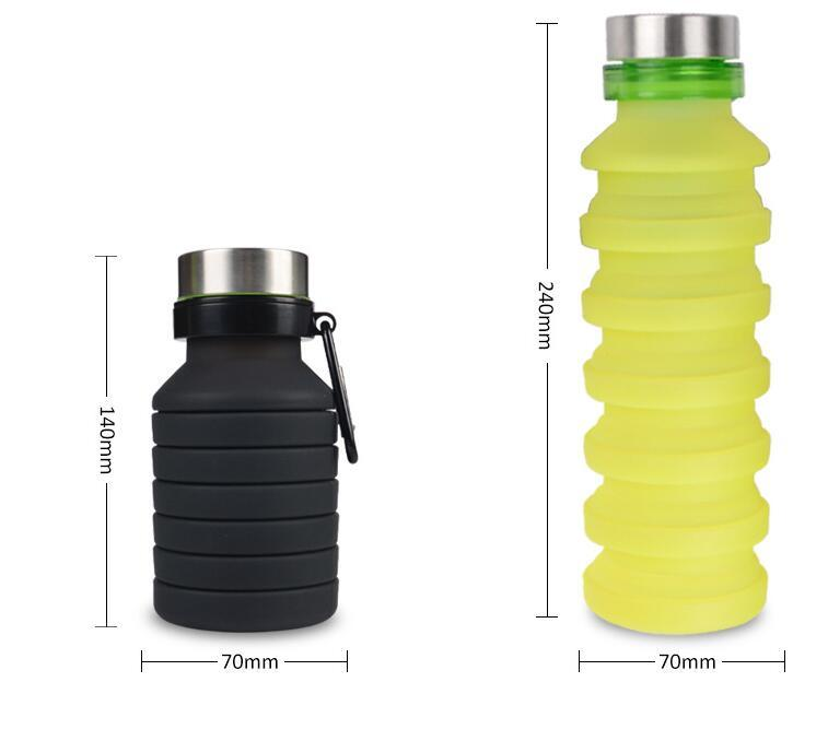 Silicone Foldable Water Bottle Collapsible Sport Drinking Bottle