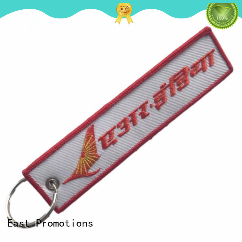 top quality custom fabric keychains supply for gift