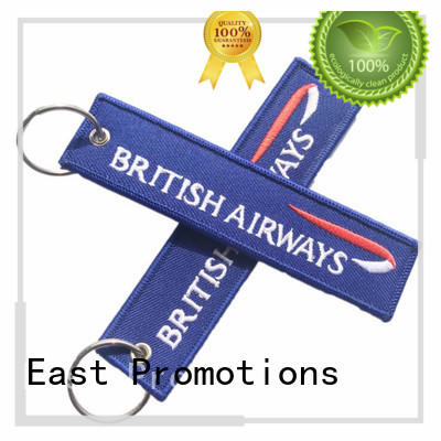 East Promotions custom fabric keychains company bulk production