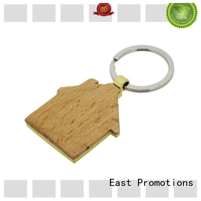 East Promotions best price custom wood keychains supply bulk production