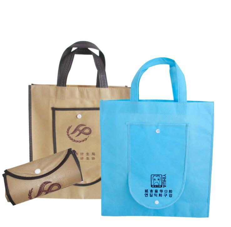 High-quality Supermarket Reusable Folding Fabric Promotional Non Woven Shopping Bag