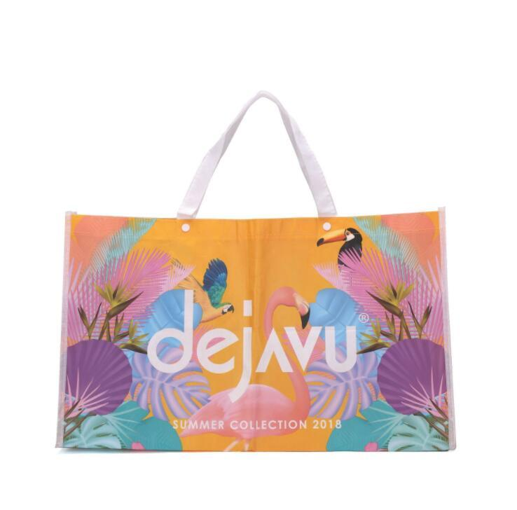 Recycled Laminated Non Woven Promotional PP Woven Shopping Bag