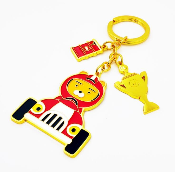 Creative Paint Custom Logo Beautiful Gold Metal Keychain