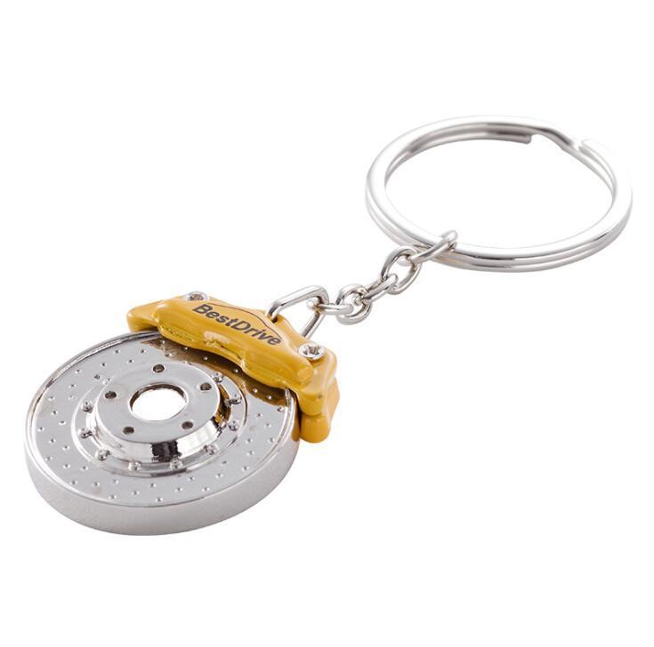 Brake Disc Shape Zinc Alloy Key ring Metal Keychain