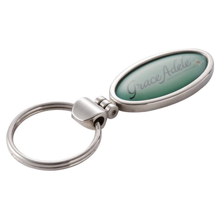 Customized Metal Keychain with Epoxy Dome Logo