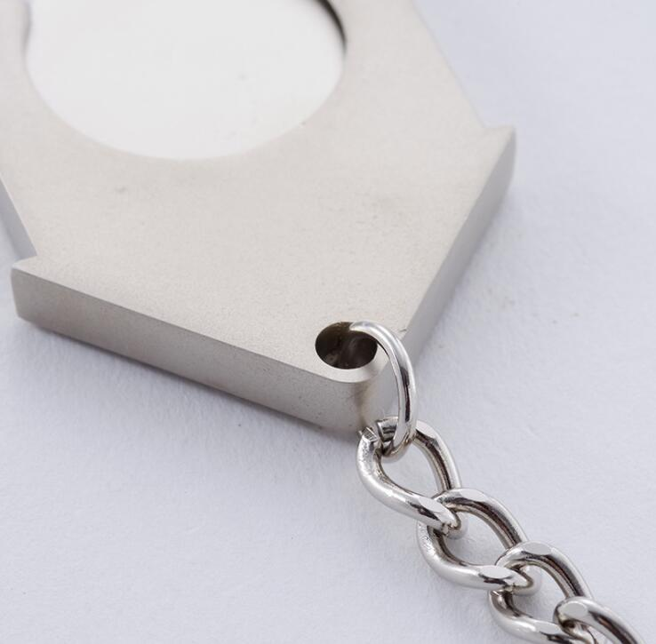 House Shape Trolley Coin Metal Key Chain
