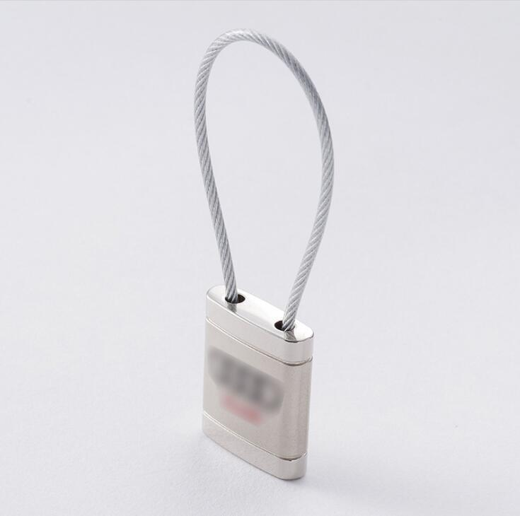 Stainless Steel Wire Rope Round Key Ring for Promotion
