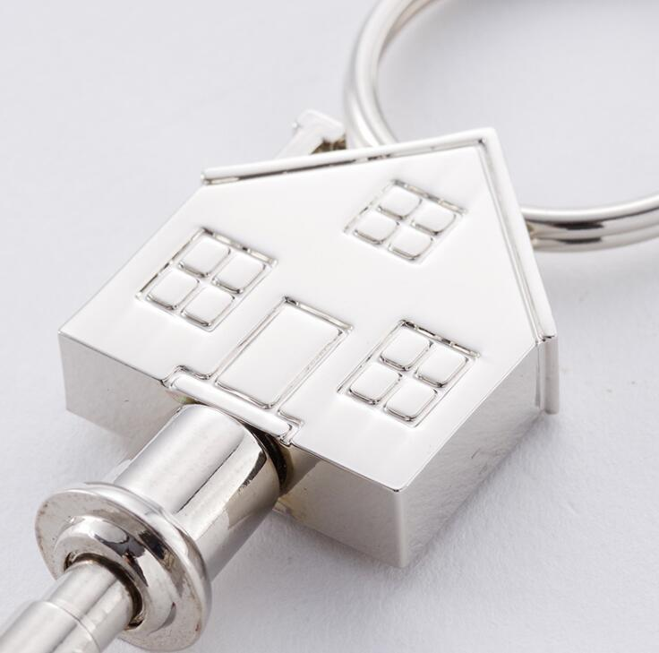Professional Manufacturer House Shape Metal Key Ring