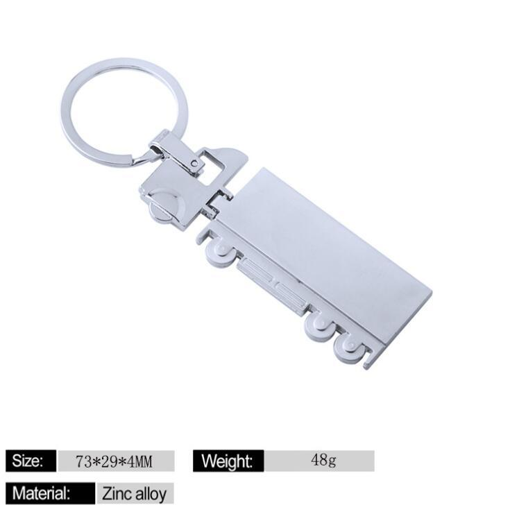 Custom Car Truck Shape Metal Keychain for Souvenir
