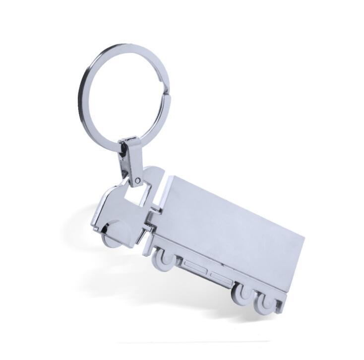 Custom Car Truck Shape Metal Keychain for Souvenir