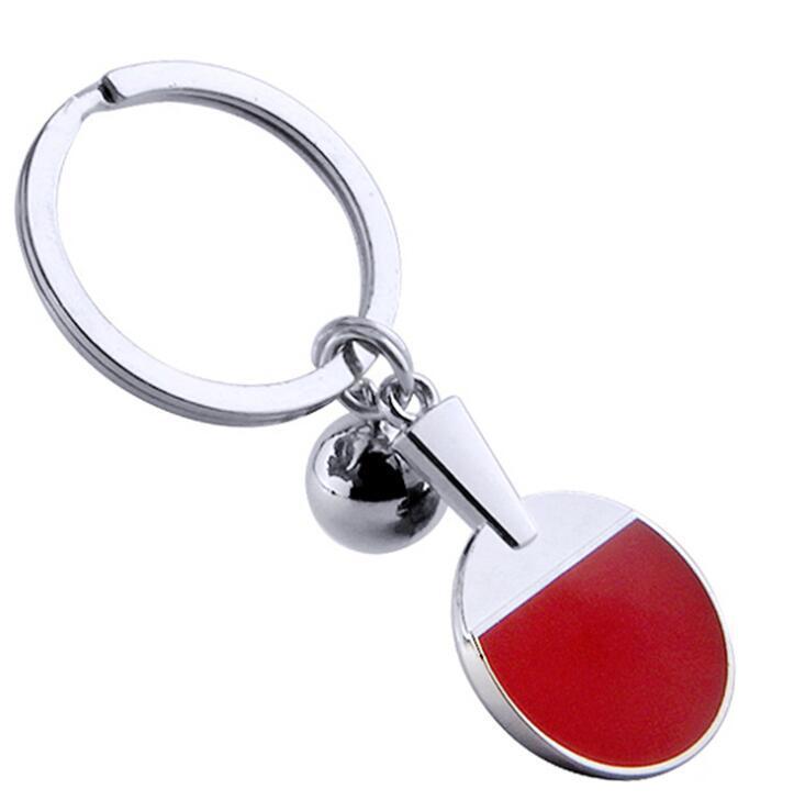 Table Tennis Racket Soft Enamel Epoxy Metal Keychain