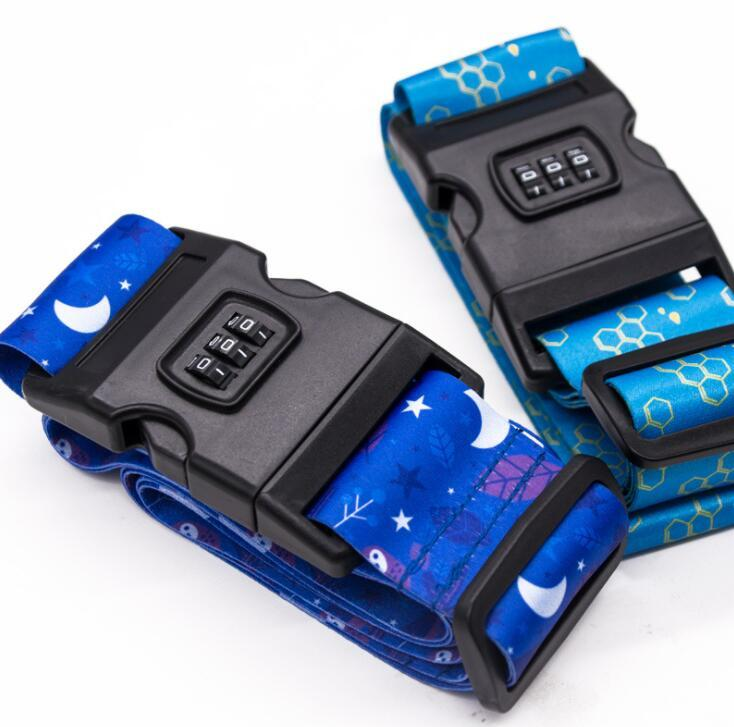 High Strength Polyester Belts Suitcase Luggage Packing Straps with Number Lock