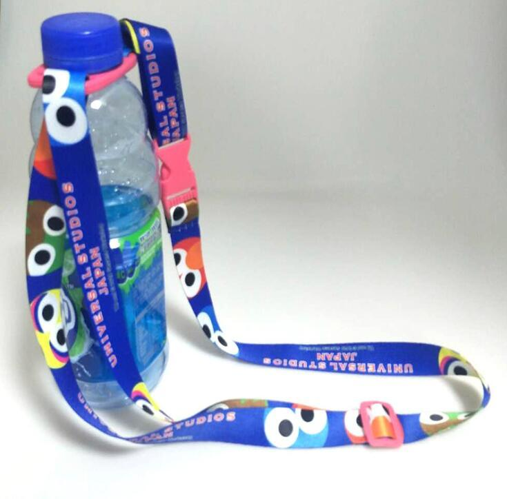 Promotional Polyester Water Bottle Holder Lanyard