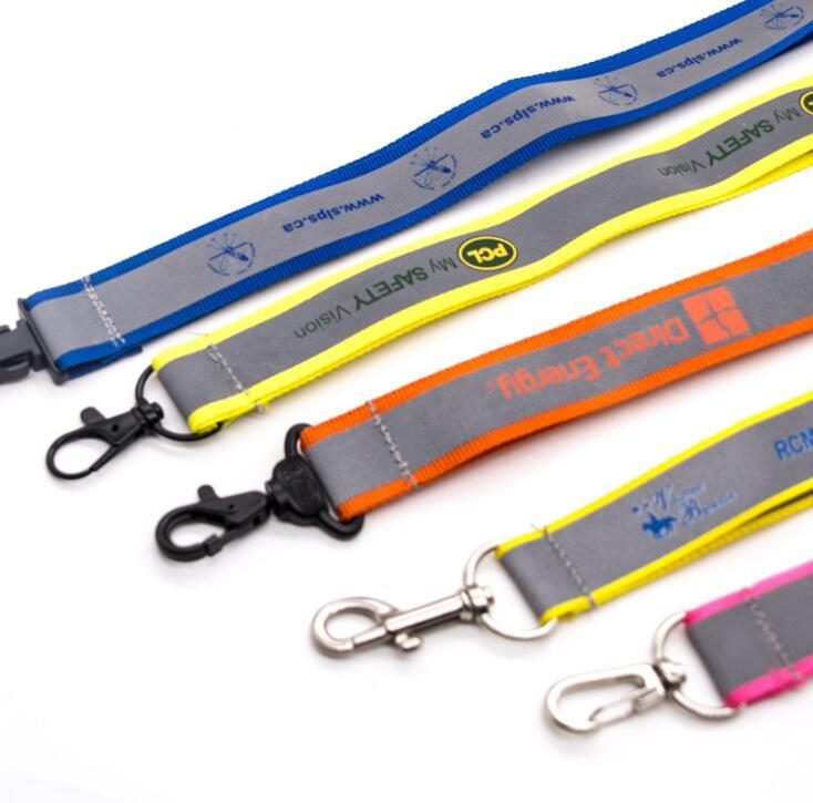 Customized Logo High Quality Double Layer Lanyard with Satin