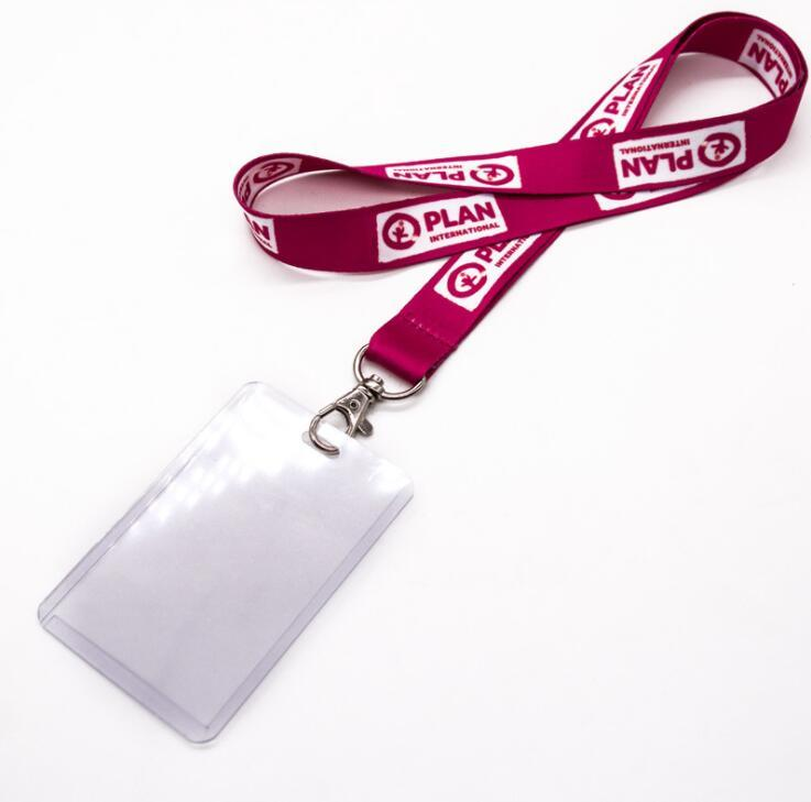 Custom Nylon Printed Lanyard with Hard PVC Card Holder