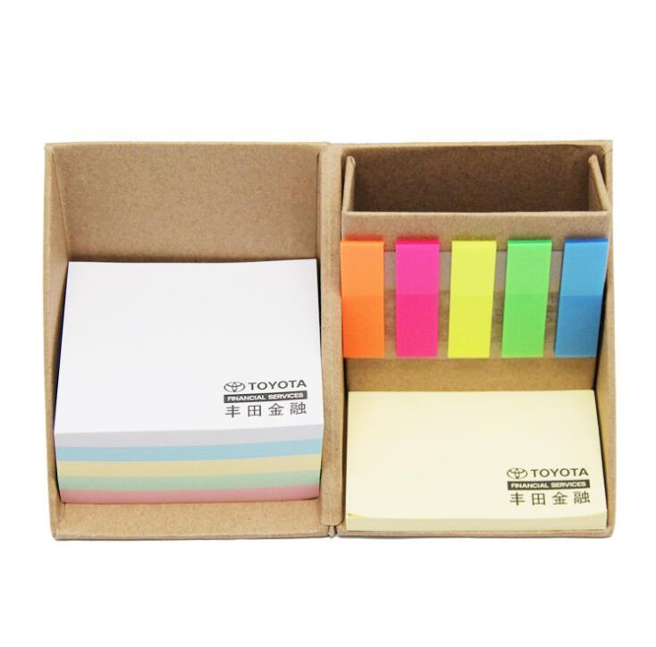Eco-Friendly Foldable Square Cube Memo, High Quality Sticky Note Set Box