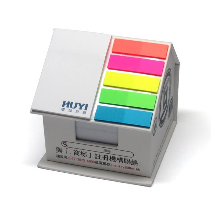 Customized House Shaped Sticky Note Pad Box