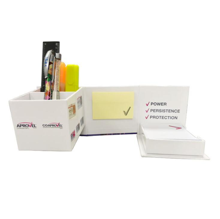 Custom customer Logo Foldable  Memo Pad Cube with Pen Holder