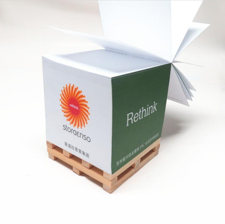 Wooden Pallet Memo Sticky Notes Block for Promotion