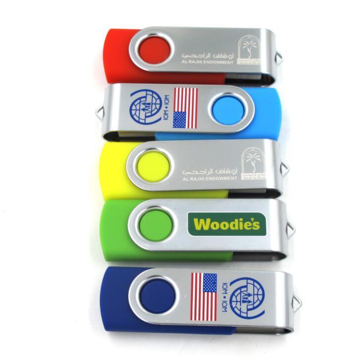Promotional Metal Swivel USB Flash Drive with Customized Logo