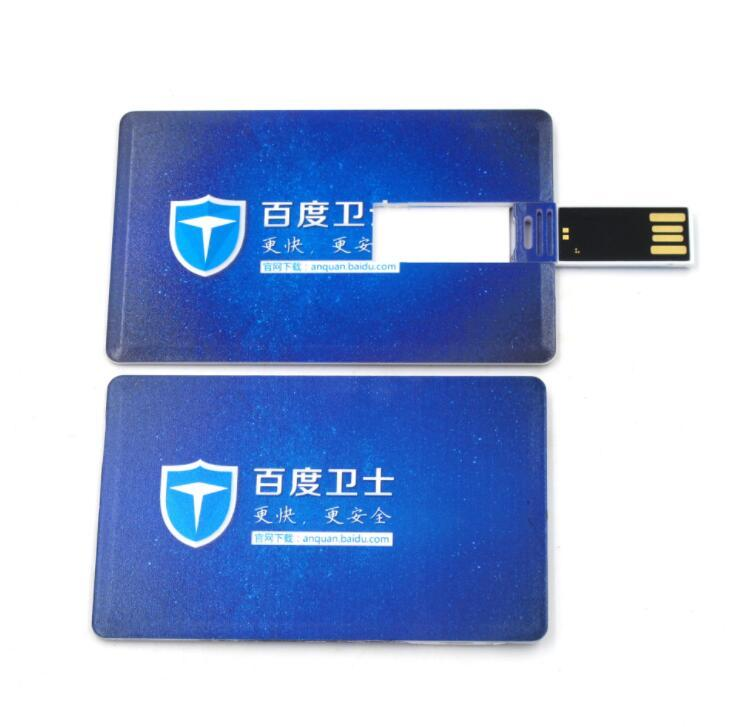 Promotional OEM Credit Card USB Flash Drive Plastic Business Card USB Stick