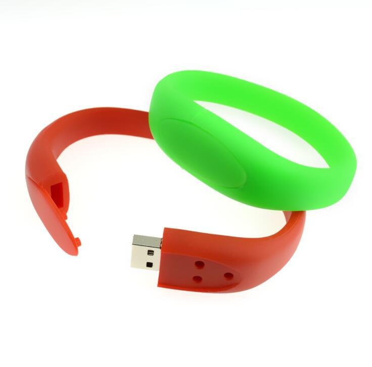 Promotion Gift Rubber USB Stick Bracelet Wristband USB Flash Drive