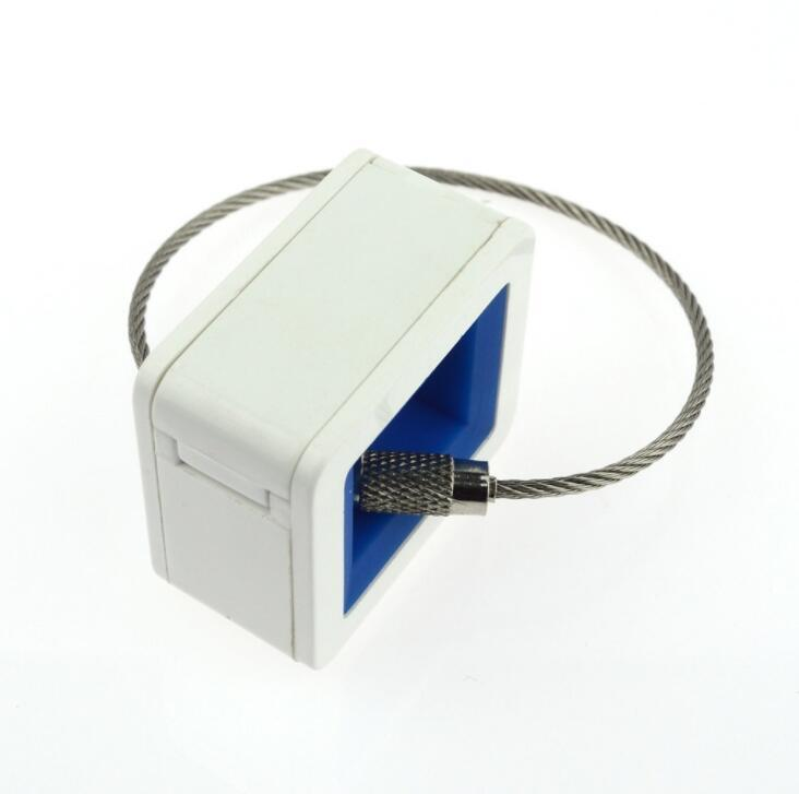 Plastic Square Shape USB Flash Drive With Wire Ring