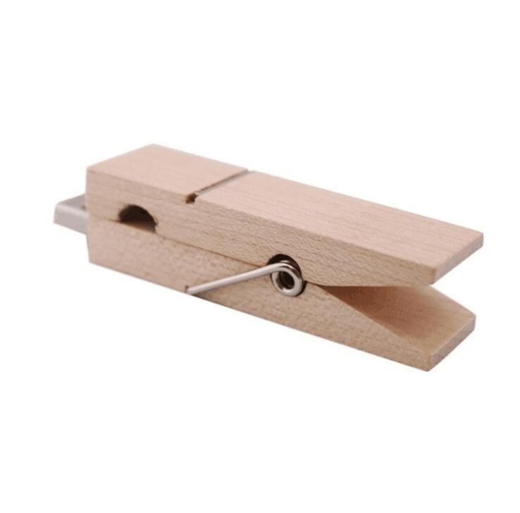 Wood Clothes Peg Shape Flash Disk ,Wooden USB Flash Drive