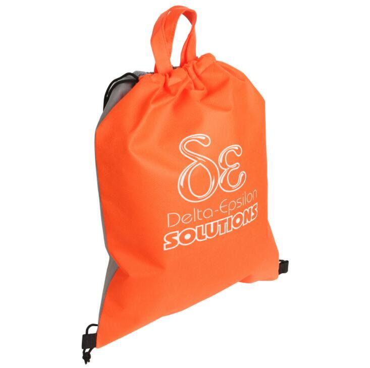 Eco- friendly Non Woven Sport Drawstring Backpack Bag with Handle