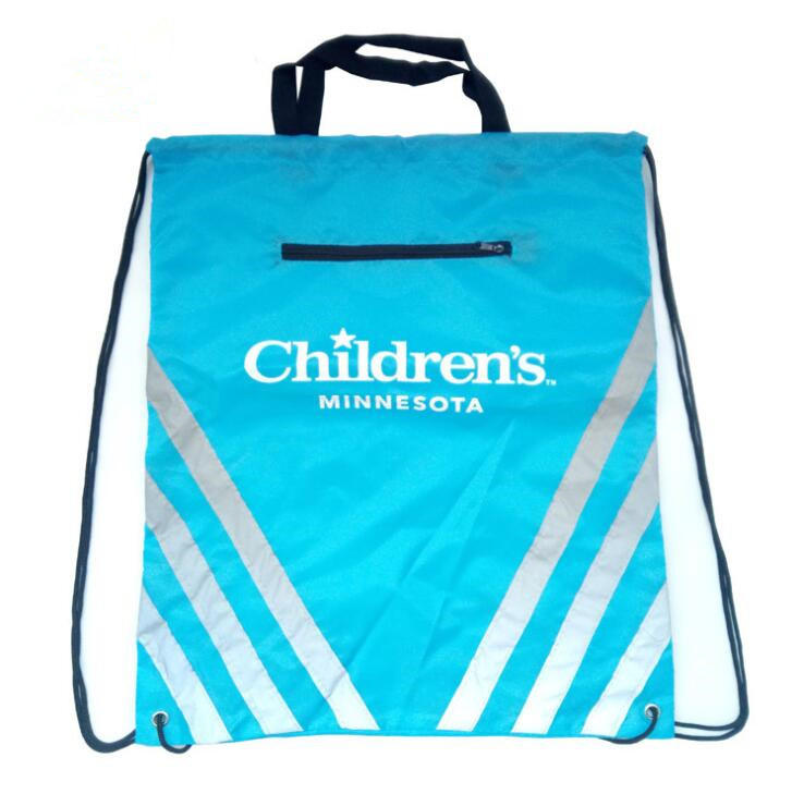 drawstring bag with zipper & custom non woven bags