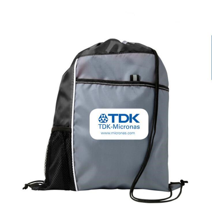 Waterproof Reflective Polyester Sport Drawstring Bag