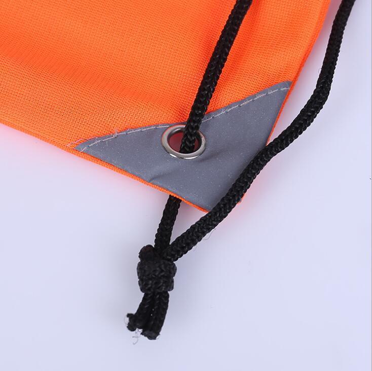 China Factory supplier 210d Nylon Reflective Drawstring Bag