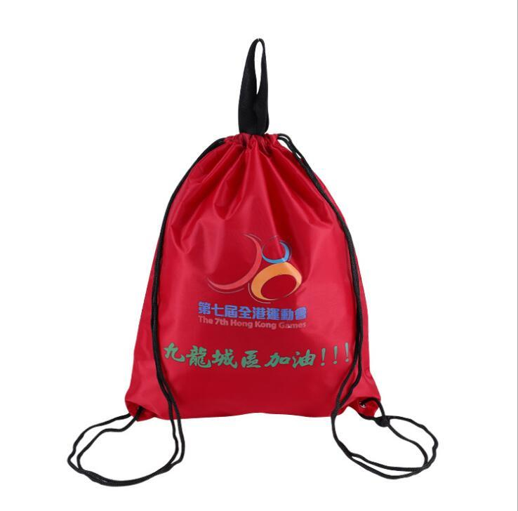 Custom Drawstring Bag with Handle Polyester String Bags