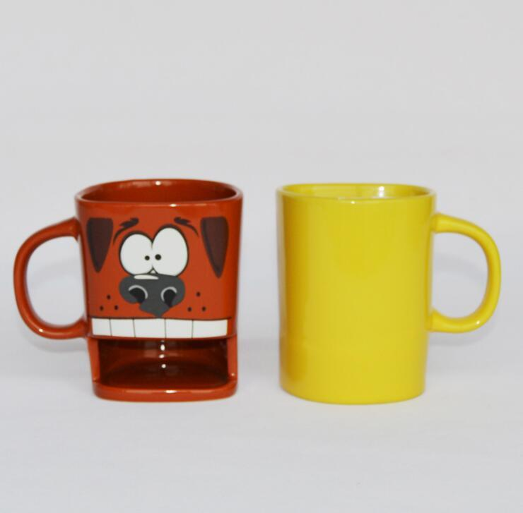 Ceramic Cookies Mug with Biscuit Holder Coffee Mug