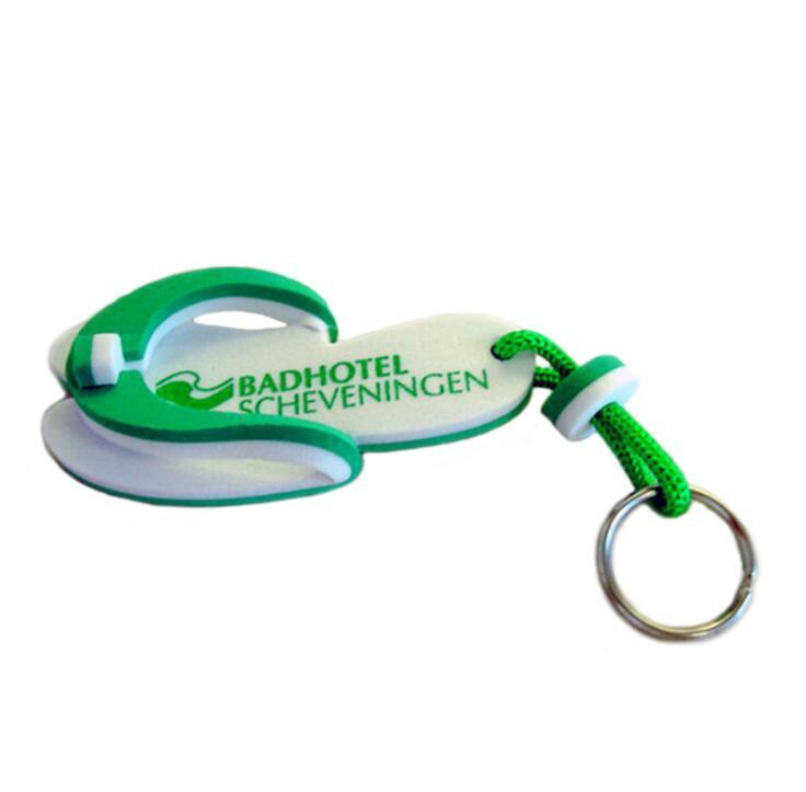 Slipper Shape Soft EVA Key Ring