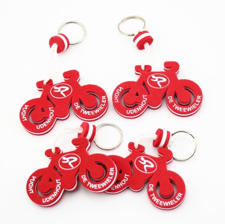 Customized Motorbike Shape EVA Floating Rubber Key Chain for Promotion Gifts