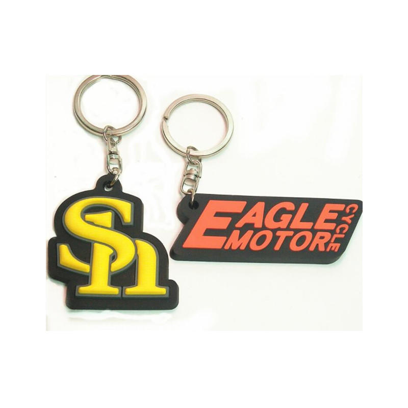 China Factory Custom Logo Design Rubber PVC Souvenir Key Chain