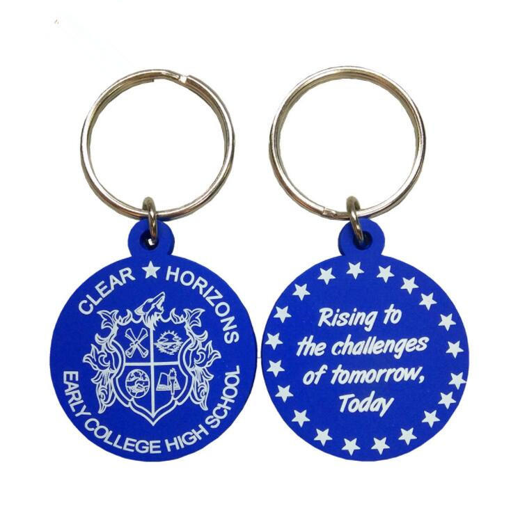 Promotional 3D Customized Cartoon Rubber Keychain for Gifts