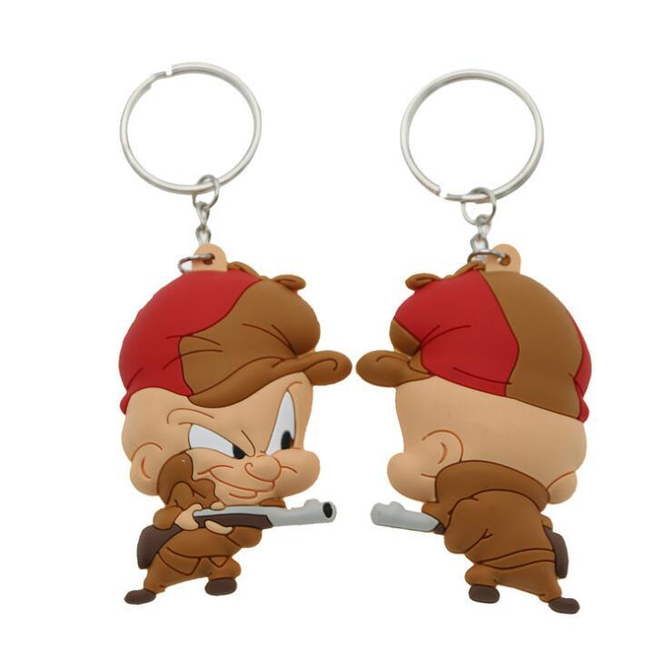 Customized 3D cartoon mascot rubber key ring for Advertising