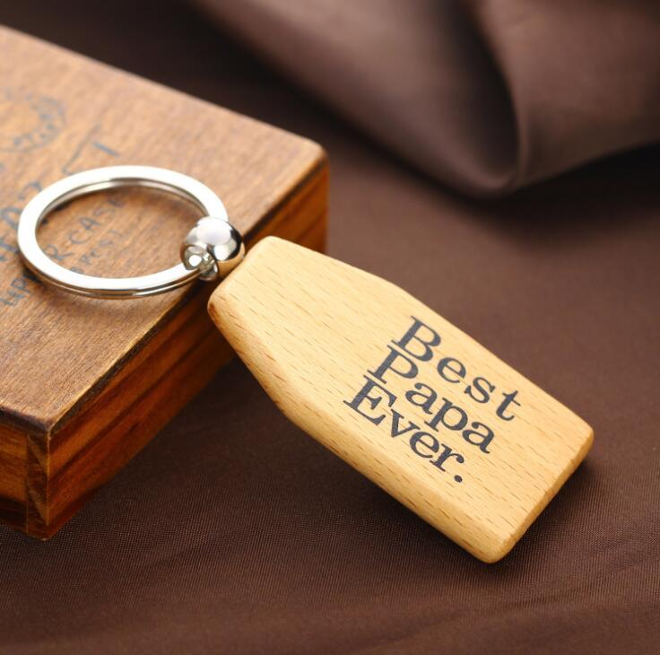 Custom Design Shape Laser Engraved Logo Wood Keychain (Wooden Key chain )