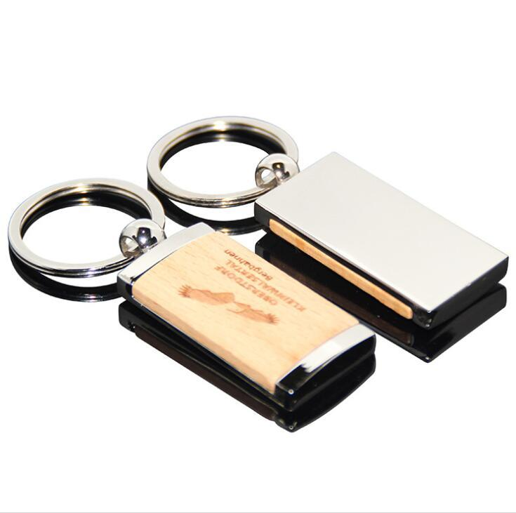 China Cheap Custom Logo Printing Metal Wooden Keychain