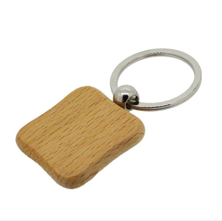 practical wood engraved keychain company for gift-2