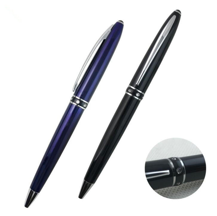 Luxury Diamond Metal Ball Pen with Logo Custom