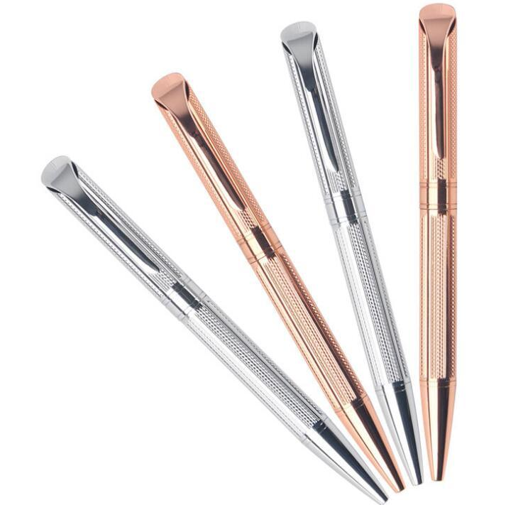 Gold or Silver Plating Rotation Type Metal Ballpoint Pen
